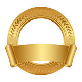 Frame with gold scroll Royalty Free Stock Photo
