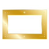 Frame of gold Royalty Free Stock Images