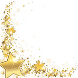 Frame gold stars. On a white background Royalty Free Stock Image