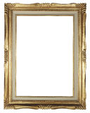 Frame. Gold frame on the white background Stock Photo