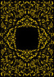Frame with golden floral ornament Royalty Free Stock Photo
