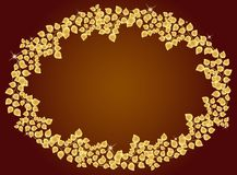 Frame of golden leaf Royalty Free Stock Images