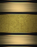 Frame of golden ribbons. Element for design. Template for design. copy space for ad brochure or announcement invitation, abstract Royalty Free Stock Photo