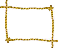 Frame of golden rope isolated Stock Photography