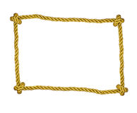 Frame of golden rope isolated Stock Photo