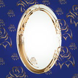 Frame with Golden rose Royalty Free Stock Photos