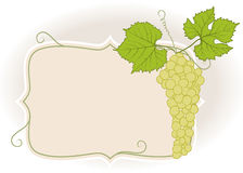 Frame with grapes Stock Photos