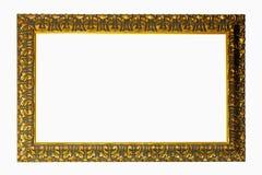 Frame gravado ouro fotografia de stock