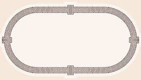 Frame in the Greek style. Oval frame in the greek style isolated on white background royalty free illustration