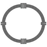 Frame in the Greek style. Round frame in the greek style isolated on white background vector illustration