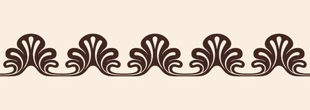 Frame in the Greek style. Seamless ancient greek ornament isolated on beige stock illustration