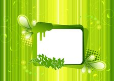 Frame on a green background. Vector frame on a green background Royalty Free Stock Photo