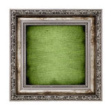 Frame with green canvas Stock Image