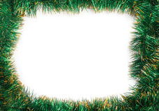 Frame of green Christmas garland Royalty Free Stock Image