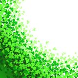 Frame with green Clover. Background for St. Patrick`s Day poster or banner. Images for your design projects vector illustration