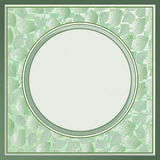 Frame green leaves Stock Photography