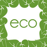 Frame of green leaves around labels eco. Frame of green leaves around labels, eco vector illustration