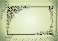 Frame green retro design Royalty Free Stock Image