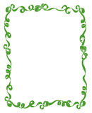 Frame of Green Ribbons and Bows Stock Photo