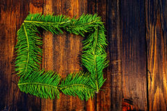 Frame of green spruce Royalty Free Stock Photography