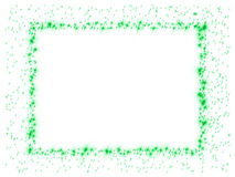 Frame green stars Stock Photography