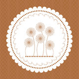 Frame for greeting card. Daisies on greeting card, happy Royalty Free Stock Photography