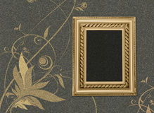 Frame on a grey background with a flower pattern Stock Photography