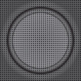 Frame on grill. Fine abstract image of rounded frame on modern speaker texture Stock Image