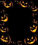 Frame of Grinning Halloween lanterns Royalty Free Stock Photos
