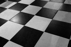 Frame ground. I usually old black and white checkered Royalty Free Stock Photo