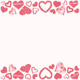 Frame of grunge hearts love theme Stock Photos