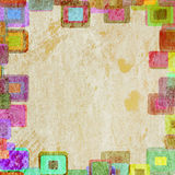 Frame grunge squares. On the wall, abstract background Royalty Free Stock Image