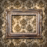 Frame on grunge wallpaper Stock Image