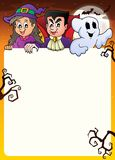 Frame with Halloween characters topic 2 Stock Images
