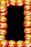 Frame of  halloween pumpkins Stock Images