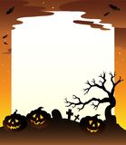 Frame with Halloween scenery 1 Royalty Free Stock Image