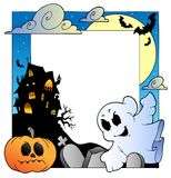 Frame with Halloween topic 1 royalty free illustration