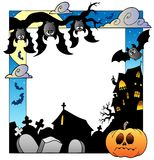 Frame with Halloween topic 5 Royalty Free Stock Photos