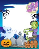 Frame with Halloween topic 7 stock illustration