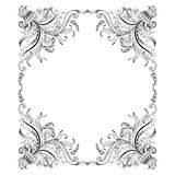 Frame with hand-drawing decorative ornaments Royalty Free Stock Photo