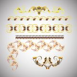 Frame hand-drawing. Set of gold frame hand-drawing Royalty Free Stock Photography