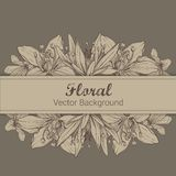 Frame with hand drawn flowers. EPS 10 Royalty Free Stock Images