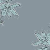 Frame with hand drawn flowers. EPS 10 Stock Images