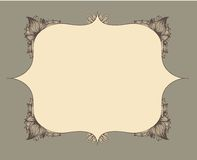 Frame with hand drawn flowers. EPS 10 Royalty Free Stock Photo