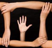 frame hand hands inside Arkivfoto