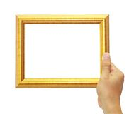 Frame in hand isolated. On white background Royalty Free Stock Photo