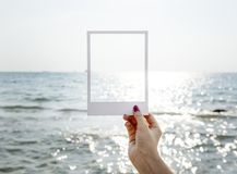 Frame, Hand, Location, Ocean Stock Images