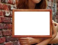 Frame in handen Stock Afbeeldingen