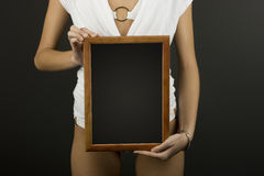 Frame in hands Stock Photography