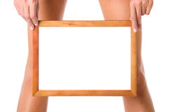 Frame in hands Stock Photos